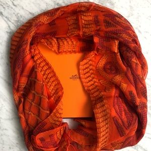 Authentic Hermes Oversize Silk Scarf